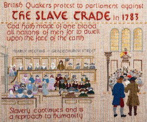 QUAKER TAPESTRY PANEL – THE SLAVE TRADE