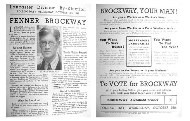 Fenner Brockway - campaign material