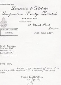 1927 Co-operative Letter