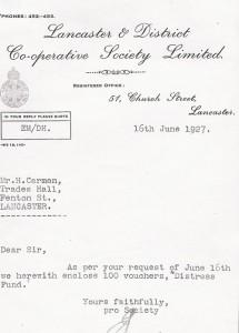 1927 Co-operative Letter