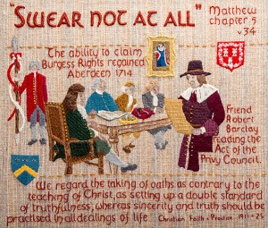 QUAKER TAPESTRY – OATHS