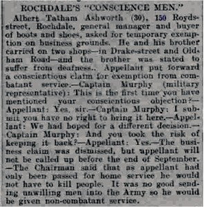 Newspaper clipping of tribunal