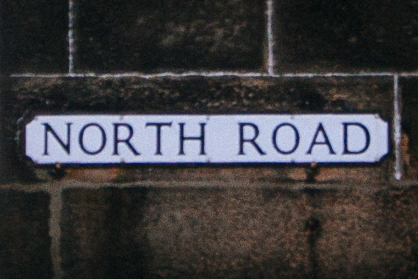 North Road Sign