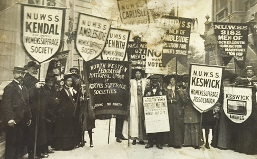 Catherine Marshall at suffrage demonstration