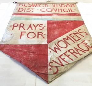 Keswick suffrage banner