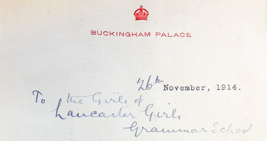 Letter from Queen Mary