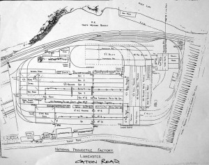 Map of National Projectile Factory, Lancaster