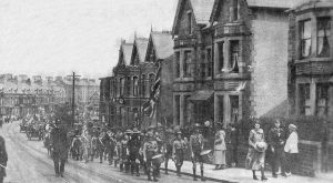 1st Morecambe Boy Scouts lead Morecambe and Heysham parade, July 1919  The Morecambe Visitor and Heysham Chronicle, 23 July 1919