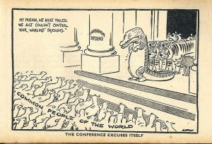 Cartoon on the World Disarmament Conference David Low, 1937