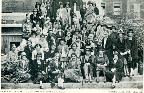 General Council of the Women's Peace Crusade, 1929 Archives and Special Collections, Bangor University, Bangor