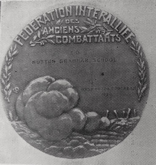 Hutton Grammar School's FIDAC Peace Medal, 1930 The Huttonian, No 11, Christmas Term 1931 Courtesy of Lancashire Archives, Archive ref: DDX777/25