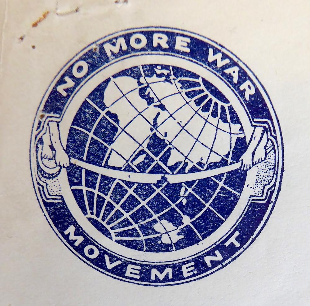 No More War logo Courtesy of Labour History Archive and Study Centre (LHASC), Archive ref: LP/JSM/WR/1.i