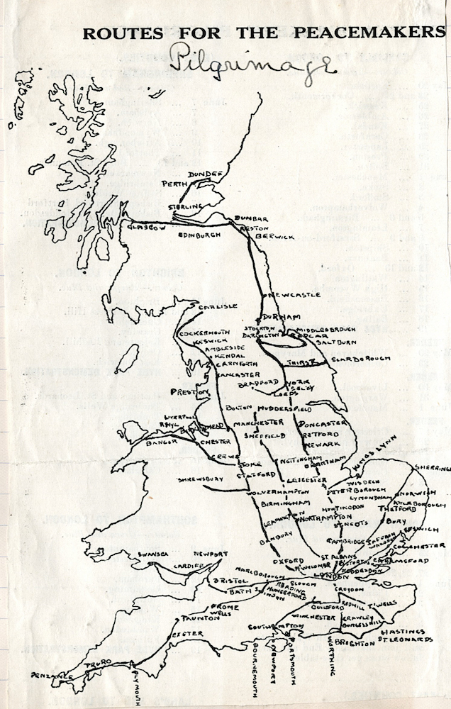 Routes for the Peacemakers' Pilgrimage Archives and Special Collections, Bangor University