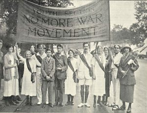 Members of the youth section of the No More War Movement, October 1924 © Peace Pledge Union Archive