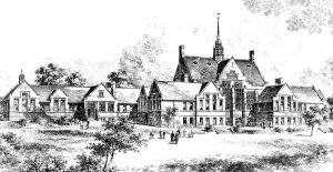 Artist's impression of the School Courtesy of Oldham Hulme Grammar School Archive