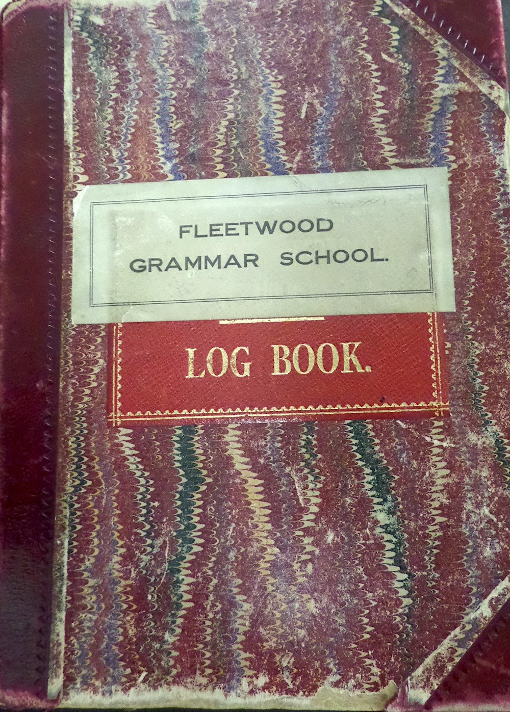 Fleetwood Grammar School Logbook Courtesy of Lancashire Archives, Archive ref: SMFL 1/1