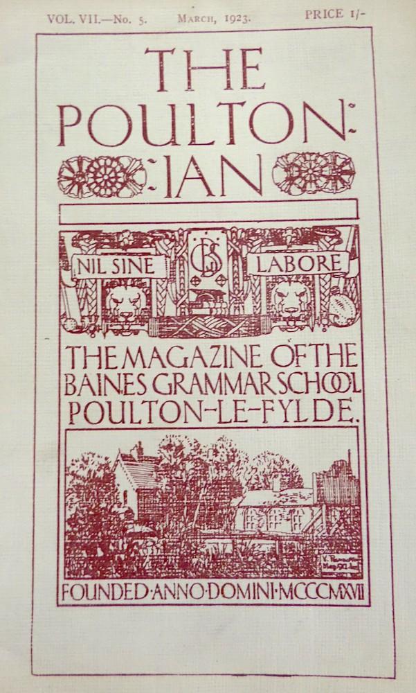 The Poultonian 7 (5), Mar 1923 Courtesy of Lancashire Archives, Archive ref: SMPO/ACC10093/23
