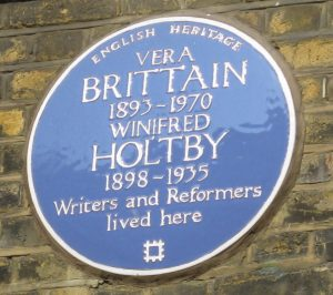 Vera Brittain blue plaque